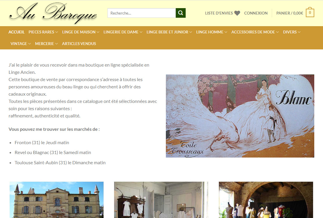 exemple de site au-baroque