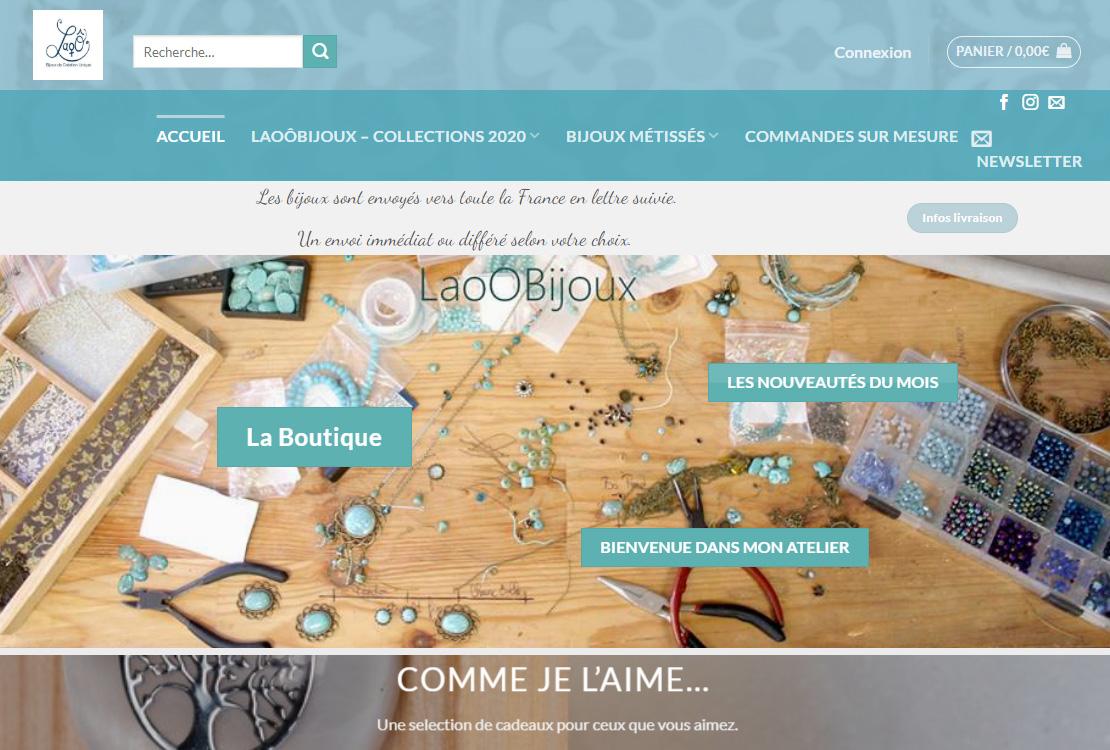 Exemple site laoo-bijoux
